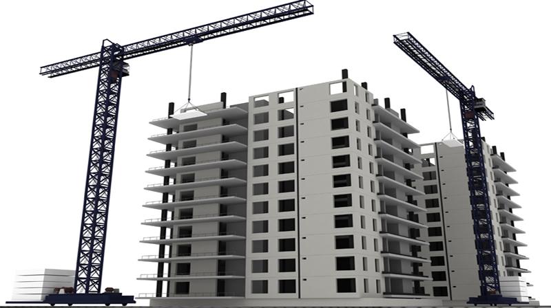 Construction building/ 3d render.